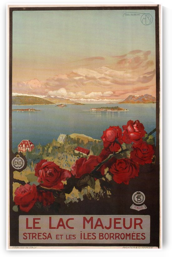 Lake Maggiore Vintage Travel Poster 1927 by VINTAGE POSTER