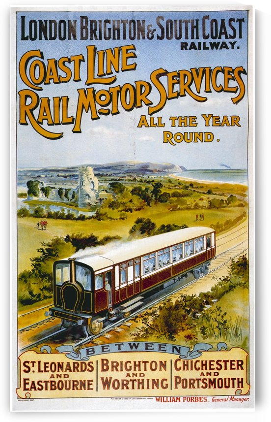 LBSCR vintage travel poster by VINTAGE POSTER