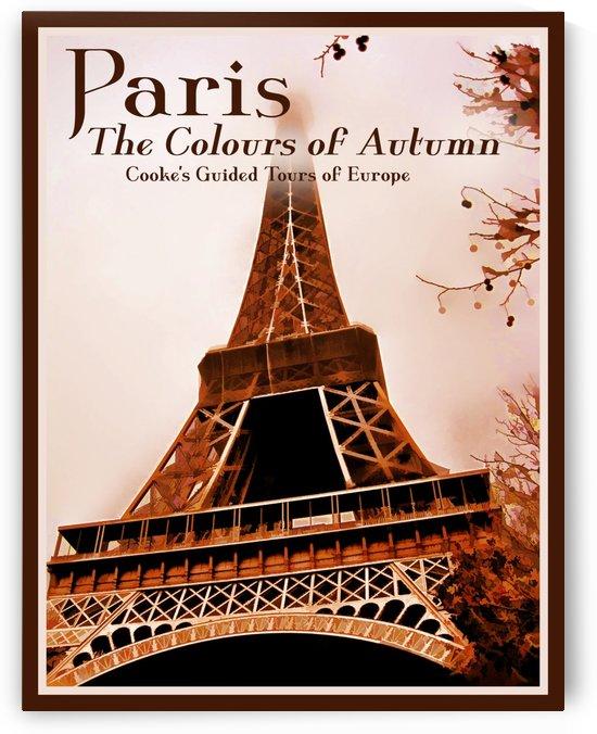 Paris The Colours of Autumn by VINTAGE POSTER
