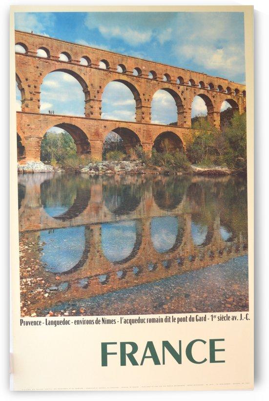 Pont du Gard France travel poster by VINTAGE POSTER