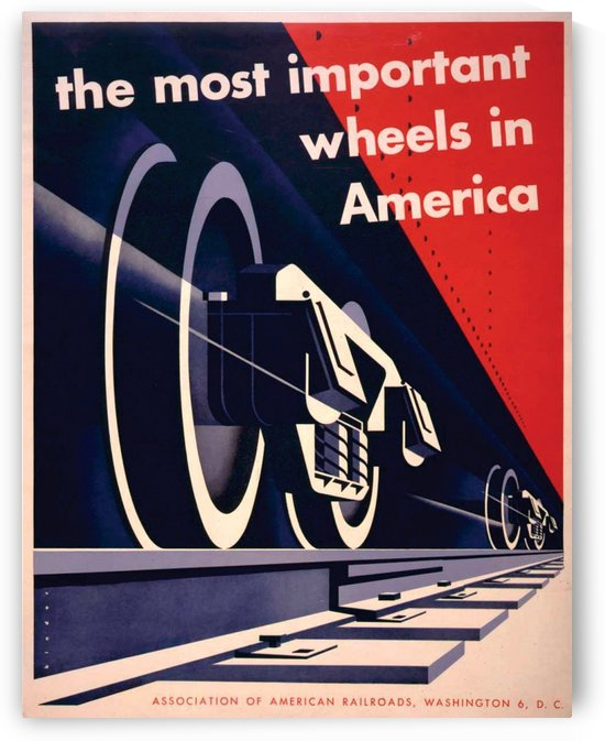 Association of American Railroads Poster by VINTAGE POSTER