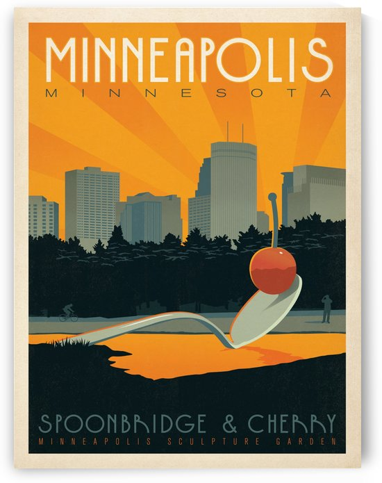 Minneapolis Minnesota by VINTAGE POSTER