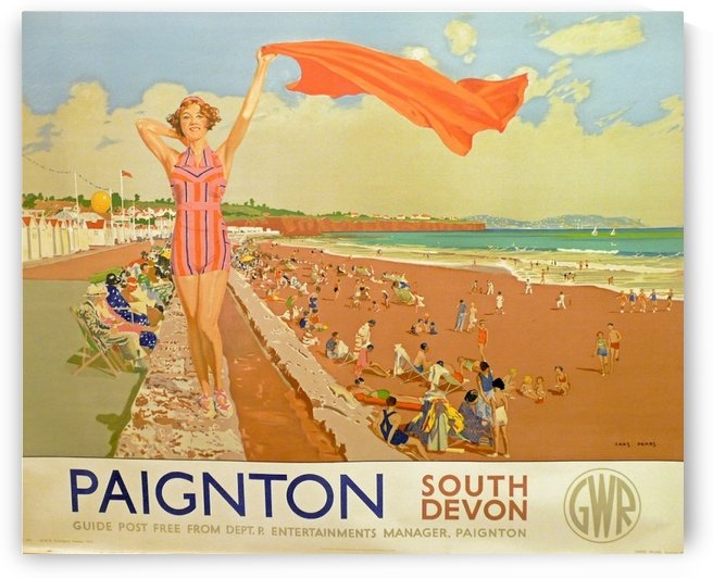 Paignton South Devon vintage poster by VINTAGE POSTER