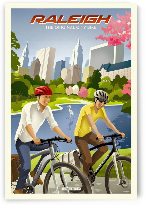 Raleigh The Original City Bike by VINTAGE POSTER