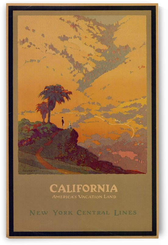 California American Vacation Land by VINTAGE POSTER