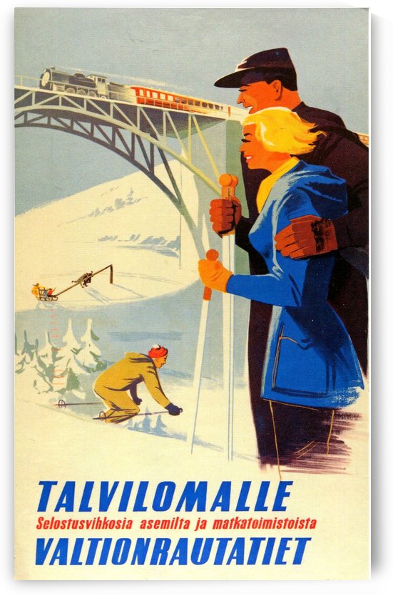 Finland vintage travel poster by VINTAGE POSTER