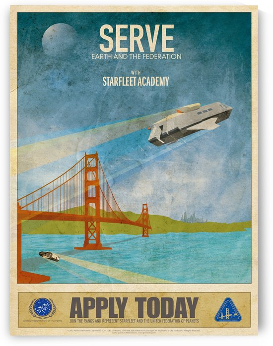 Serve Earth and The Federation with Starfleet Academy by VINTAGE POSTER