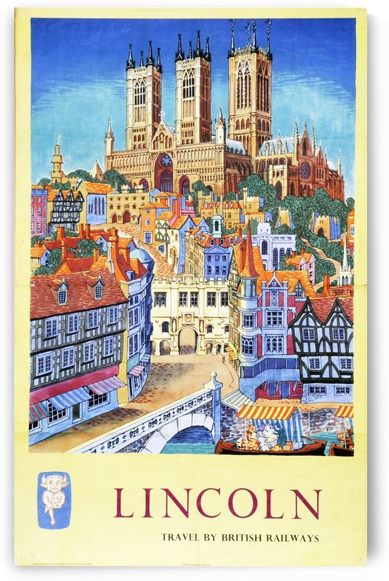 Lincoln vintage travel poster for British Railways by VINTAGE POSTER