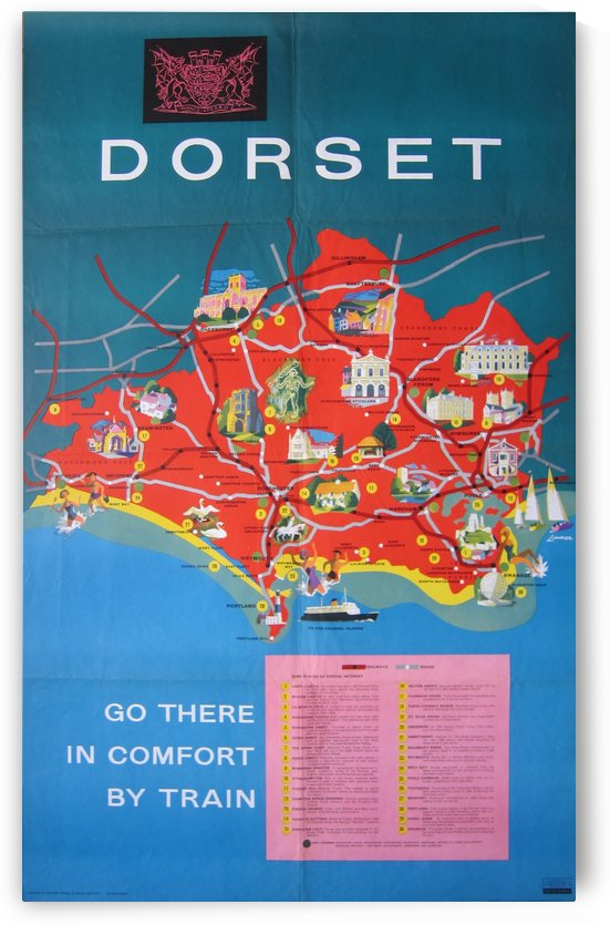 Dorset, British Railways poster by VINTAGE POSTER