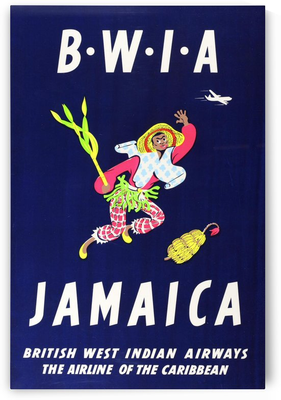 BWIA Jamaica original travel poster by VINTAGE POSTER