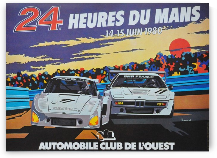 24 Heures du Mans, 14 and 15 juin 1980 poster by VINTAGE POSTER