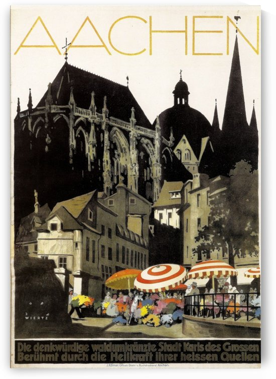 Aachen vintage German travel poster by VINTAGE POSTER