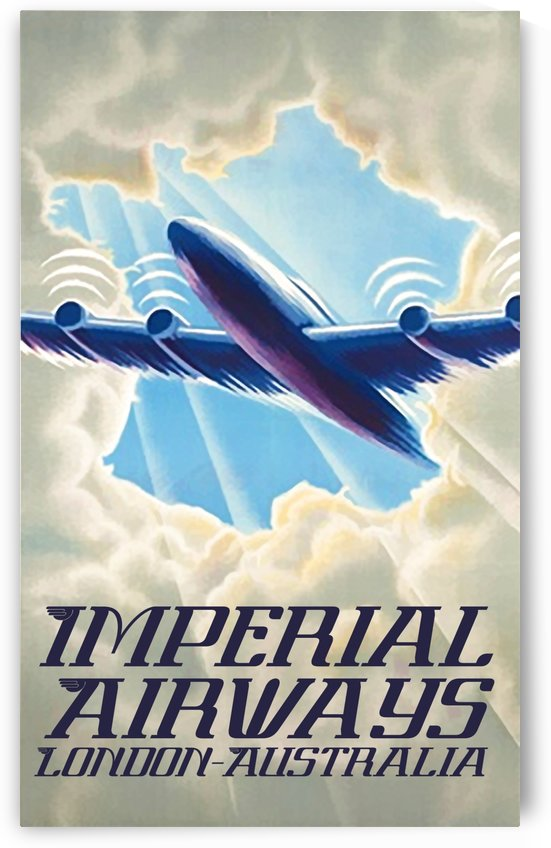 Imperial Airways London - Australia vintage travel poster by VINTAGE POSTER