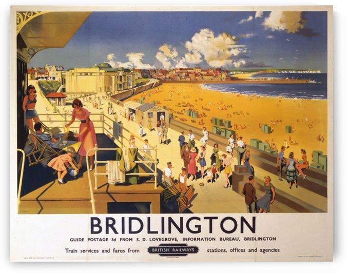 Bridlington poster Blake, F Donald 1950 by VINTAGE POSTER
