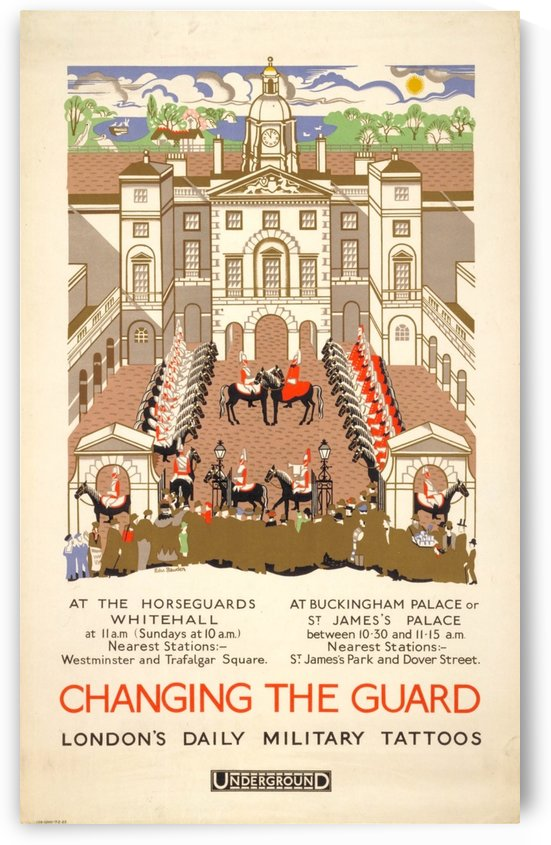 London Underground Changing the Guard by VINTAGE POSTER