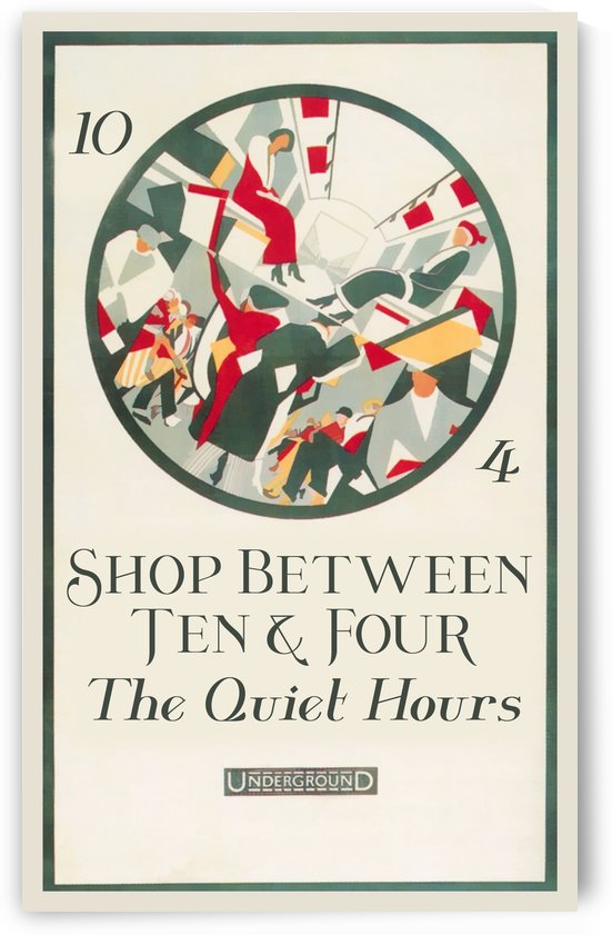 London Underground Shop between the quiet hours by VINTAGE POSTER