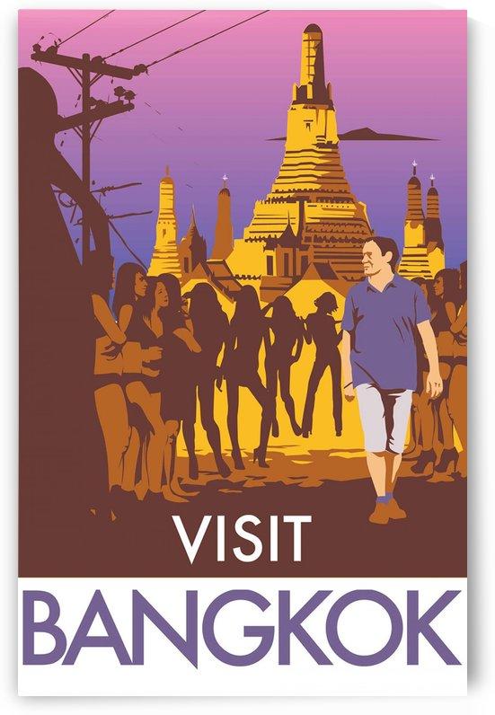 Visit Bangkok by VINTAGE POSTER