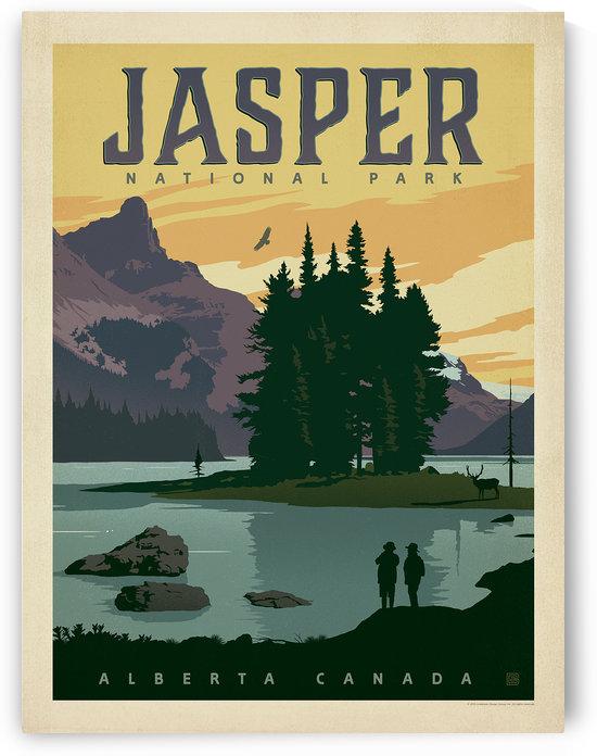 Jasper National Park by VINTAGE POSTER