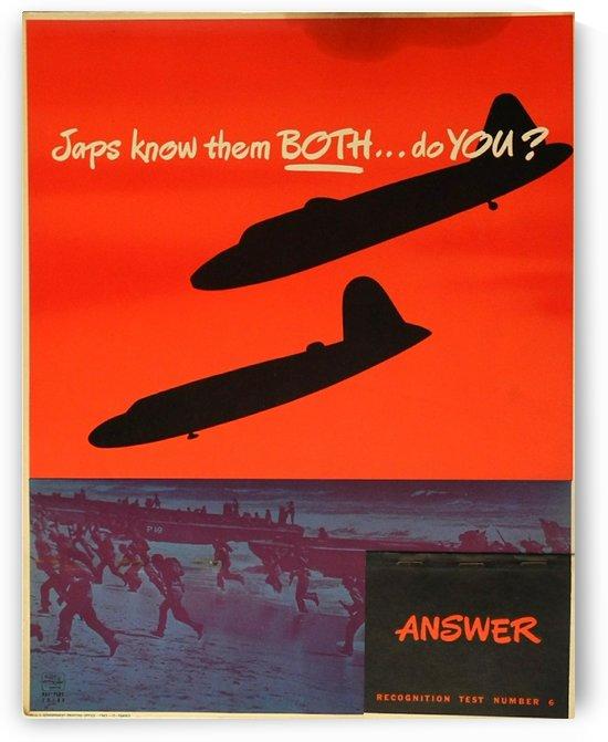 Recognition test vintage poster by VINTAGE POSTER
