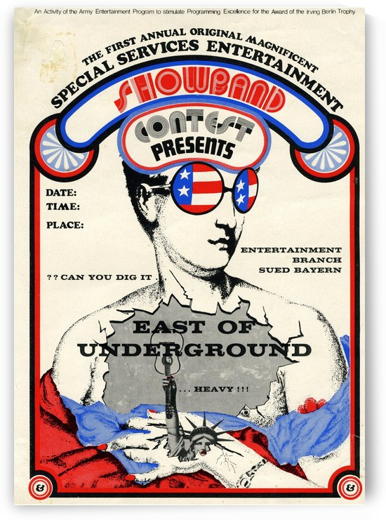 East of Underground Poster WEB USE by VINTAGE POSTER