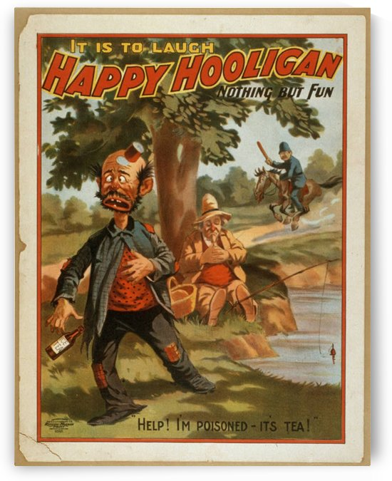 Happy Hooligan Nothing but fun by VINTAGE POSTER