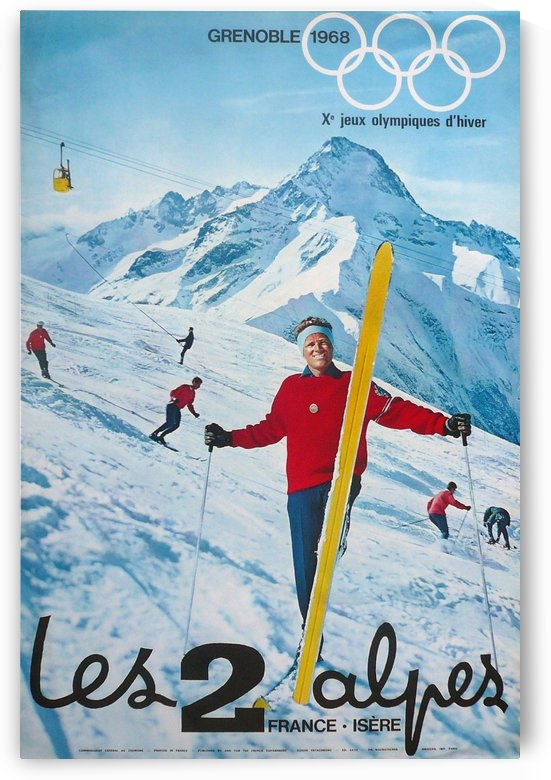 Olimpiade-ski Klasik Vintage Poster by VINTAGE POSTER