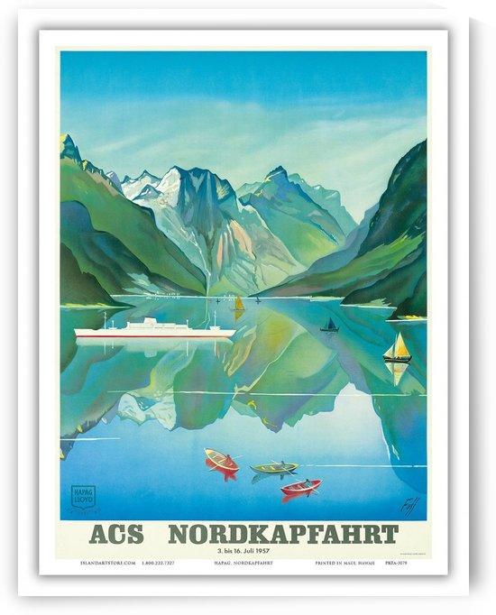 Norway Fjord Cruise Vintage Ocean Liner Travel Poster by VINTAGE POSTER