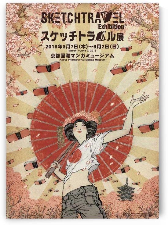 Yuko Shimizu sketch travel poster by VINTAGE POSTER