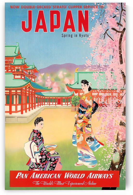 Pan American World Airways Japan Spring in Kyoto by VINTAGE POSTER