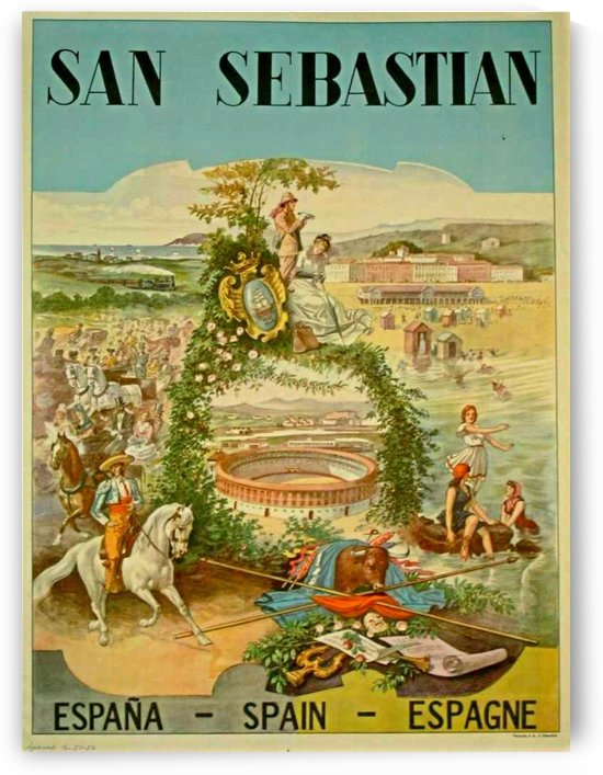 San Sebastian Spain poster 1952 by VINTAGE POSTER