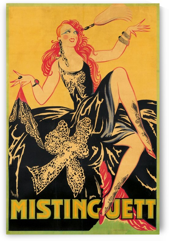 Mistinguett poster, 1920 by VINTAGE POSTER