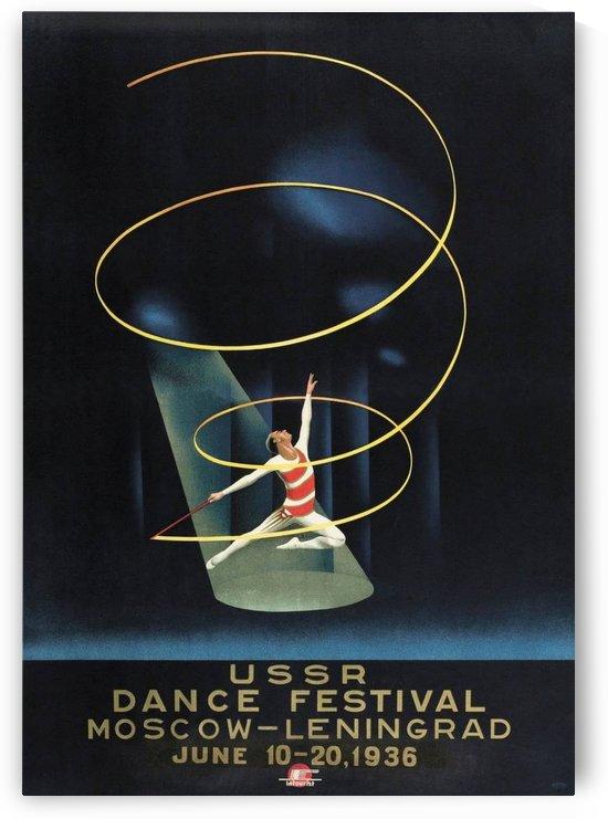 USSR Dance Festival 1936 by VINTAGE POSTER