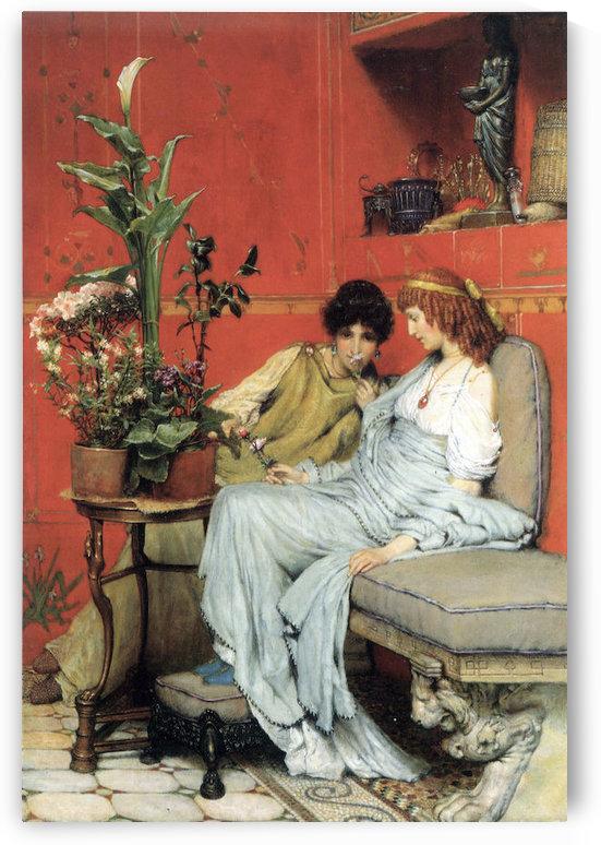 Penetralia by Alma-Tadema by Alma-Tadema