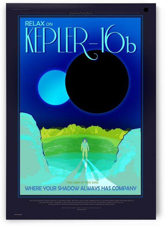 NASA travel poster for Kepler 16b by VINTAGE POSTER
