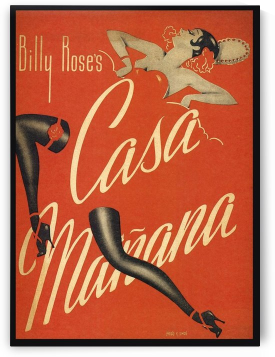 Billy Rose's Casa Manana by VINTAGE POSTER
