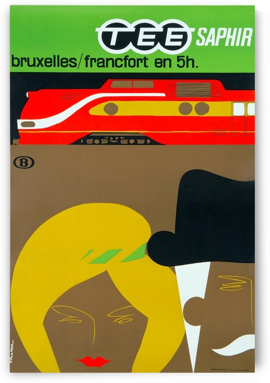 Affiche TEE Saphir, 1962 by VINTAGE POSTER