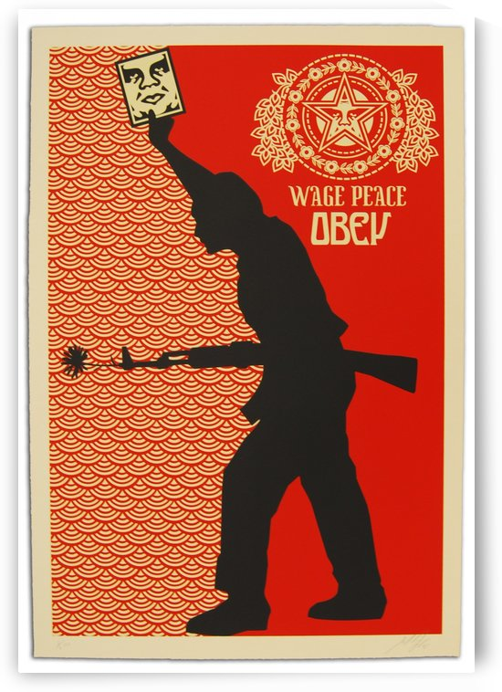Wage Peace Obey poster by VINTAGE POSTER
