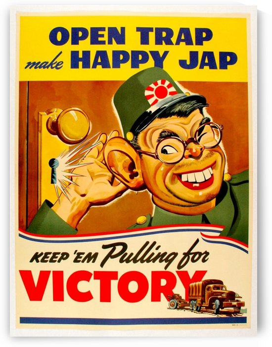 American anti Japanese propaganda from World War II by VINTAGE POSTER
