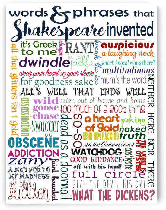 Shakespeare Words & Phrases by Whimsically Read
