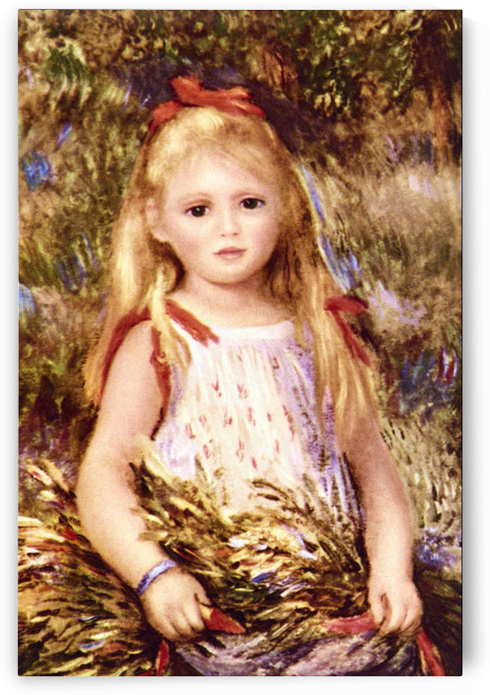 The Little Gleaner by Renoir by Renoir