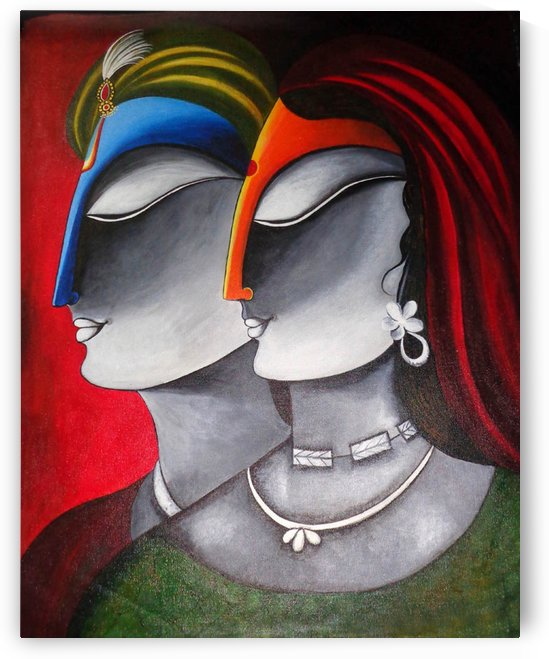 Divine Love Krishna and Radha by Mrs Neeraj Parswal