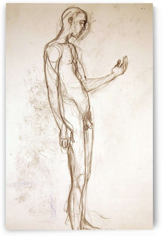 Contemplation Figure Study by Christina E Sherlock