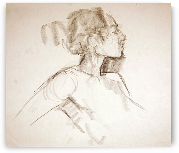 Female Profile Study by Christina E Sherlock