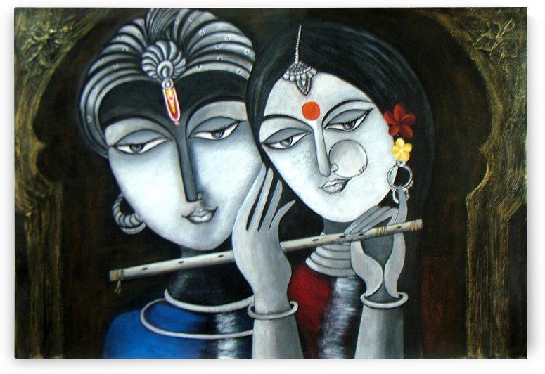 Divine Soul Mates Krishna and Radha by Mrs Neeraj Parswal