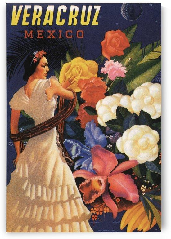 Veracruz Mexico Vintage Tourism Poster, 1940 by VINTAGE POSTER