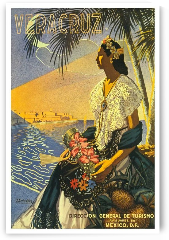 Mexico Veracruz vintage travel poster by VINTAGE POSTER