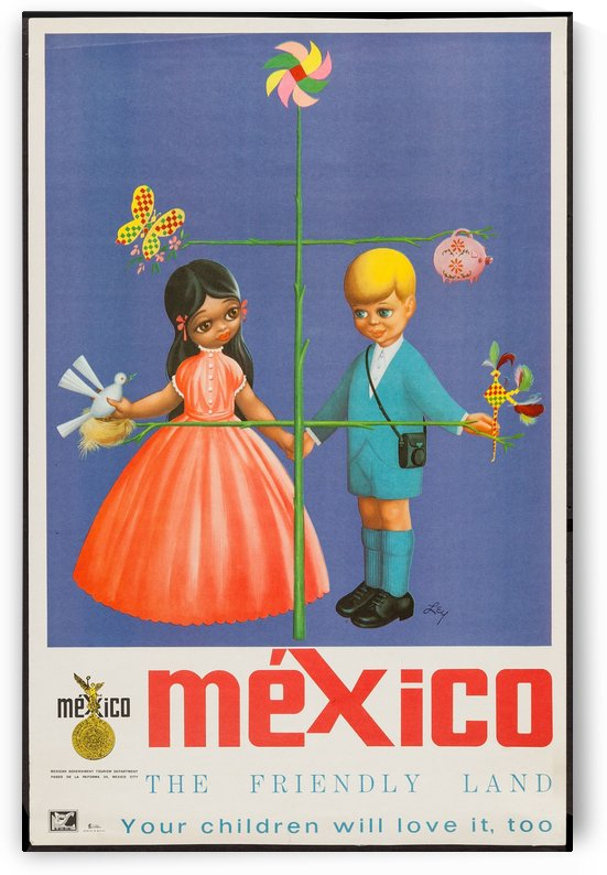Mexico The friendly land by VINTAGE POSTER