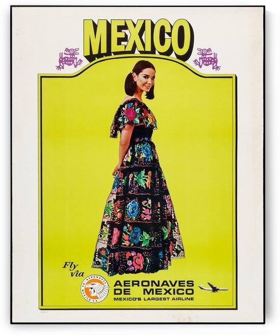 Aeronaves de Mexico Poster by VINTAGE POSTER