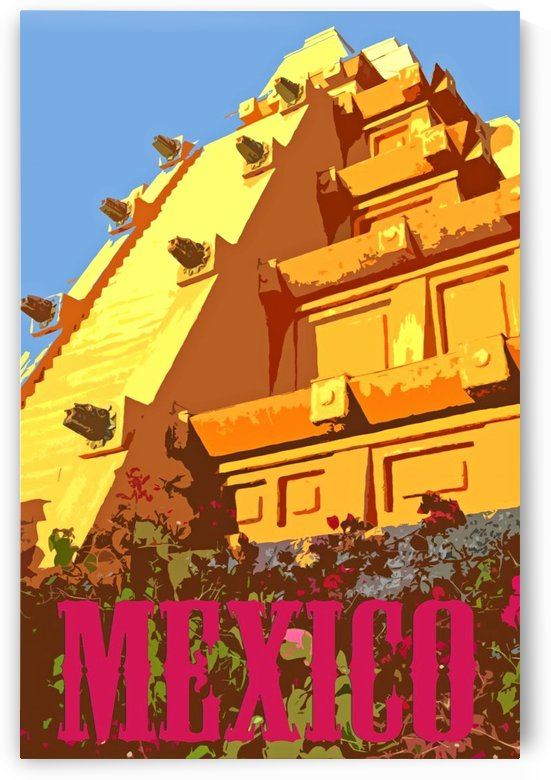 Mexico City vintage travel poster by VINTAGE POSTER