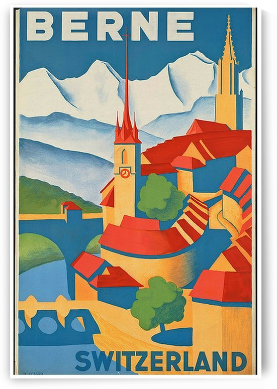 Berne Switzerland by VINTAGE POSTER